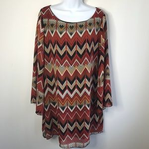 Yahada Bell Sleeve Dress Size Large